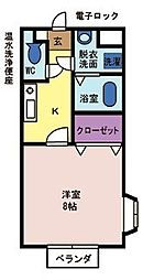 メゾンドパルテール[2階]の間取り