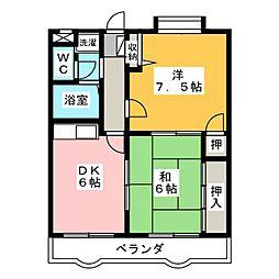 今枝マンション[1階]の間取り