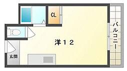 アドバンス小路[4階]の間取り