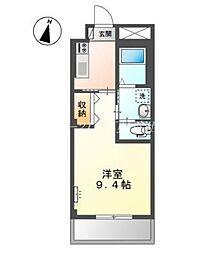 岡山電気軌道清輝橋線 清輝橋駅 徒歩30分の賃貸アパート 1階1Kの間取り