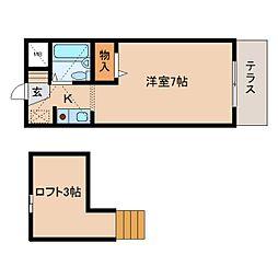奈良県奈良市南紀寺町5丁目の賃貸マンションの間取り