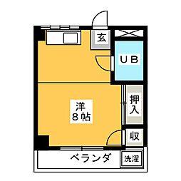 環マンション[2階]の間取り