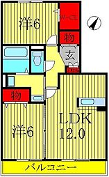 カシータII[2階]の間取り