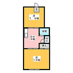 伊藤コーポ[1階]の間取り