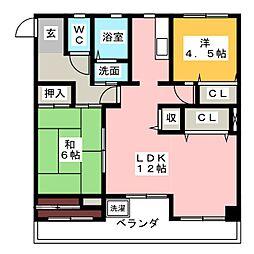 天塚コーポラス 311号室[3階]の間取り