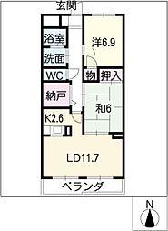 プライム入場I[1階]の間取り