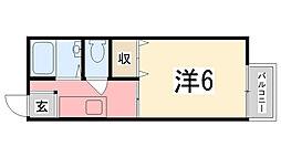 兵庫県姫路市土山2丁目の賃貸アパートの間取り