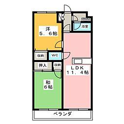 静岡県静岡市駿河区石田3丁目の賃貸マンションの間取り