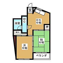 愛知県名古屋市東区葵2丁目の賃貸マンションの間取り