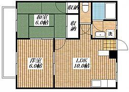 みどりマンション[2階]の間取り