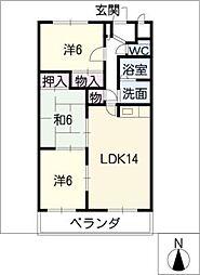 サンメゾン松井[4階]の間取り