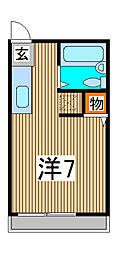 コーポラス蕨[2階]の間取り