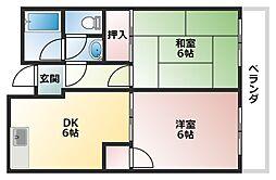 サザンクロス静[2階]の間取り