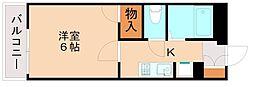 福岡県福岡市博多区西月隈1丁目の賃貸アパートの間取り
