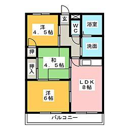 リバークレストI[2階]の間取り