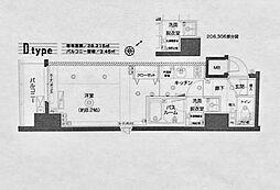 神奈川県横浜市神奈川区神奈川2の賃貸マンションの間取り