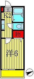 メゾンスズキA[203号室]の間取り