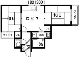 メゾンエスポワール[4階]の間取り