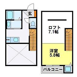 プティットメゾン[2階]の間取り