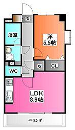 東京都北区志茂5の賃貸マンションの間取り