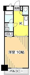 東京都国分寺市南町3丁目の賃貸マンションの間取り