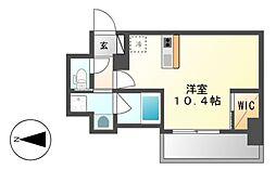 ハーモニーレジデンス名古屋新栄[12階]の間取り