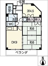 メゾン柊館[3階]の間取り