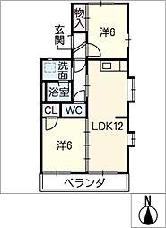 尾崎山ハウスB棟[1階]の間取り