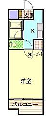 ラ・フォーレ桜ヶ丘[205号室]の間取り