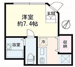 新宿荒木町アパート(フルリノベーション)[101号室号室]の間取り