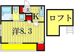 ラフィーノメゾン柴又[3階]の間取り