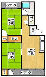 田代マンション C棟[3階]の間取り