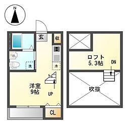 La Casa de Sarah 日比野[1階]の間取り