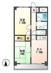コスモハイム七番町[8階]の間取り
