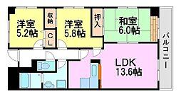 塚口コーストヒルズ[1階]の間取り