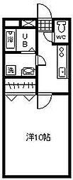 ラフィ−ナサイト2[3階]の間取り
