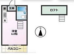 小平MIハイツ[2階]の間取り