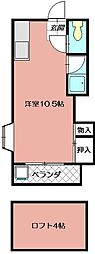マーサハイツⅡ[203号室]の間取り