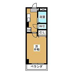 コモドエスぺシオ勝山[5階]の間取り