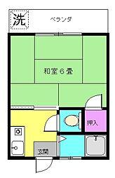 フラット江古田(大)[206号室]の間取り