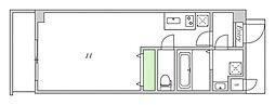 Osaka Metro谷町線 関目高殿駅 徒歩5分の賃貸マンション 4階ワンルームの間取り