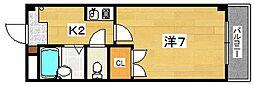レスポワール太田[2階]の間取り