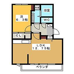 hale makana[1階]の間取り