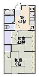 シティーハイム東和[2階]の間取り