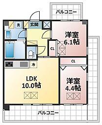 サンスクエア新大阪[8階]の間取り