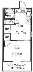 メゾンドクレール[1階]の間取り