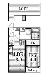 Merveille[2階]の間取り