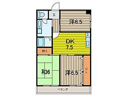 小池第3ビル[403号室]の間取り