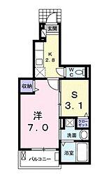 エクセレント15[1階]の間取り