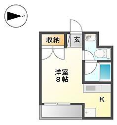 志賀本通ハイツ[3階]の間取り